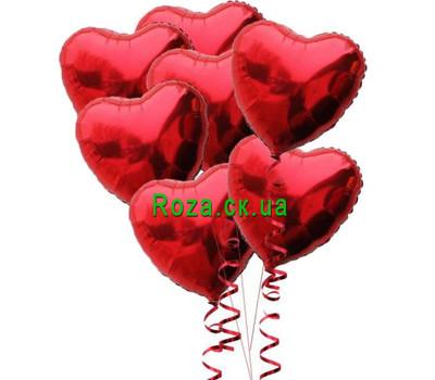 """Foil Heart Balls"" in the online flower shop roza.ck.ua"