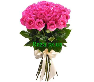 """""""25 розовых импортных роз"""" в интернет-магазине цветов roza.ck.ua"""