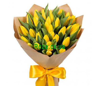 """35 yellow tulips"" in the online flower shop roza.ck.ua"