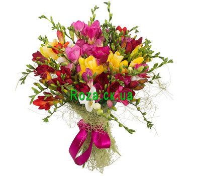 """A fragrant bouquet of freesias"" in the online flower shop roza.ck.ua"