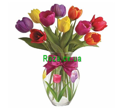 """Buy a small bouquet of tulips"" in the online flower shop roza.ck.ua"