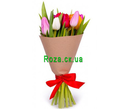 """Bouquet of 11 Tulips"" in the online flower shop roza.ck.ua"