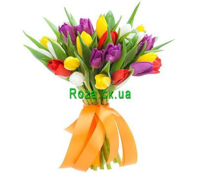 """""""Букет из 25 тюльпанов"""" в интернет-магазине цветов roza.ck.ua"""
