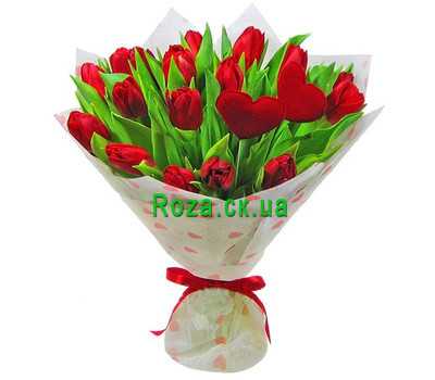 """Bouquet of tulips for your beloved"" in the online flower shop roza.ck.ua"