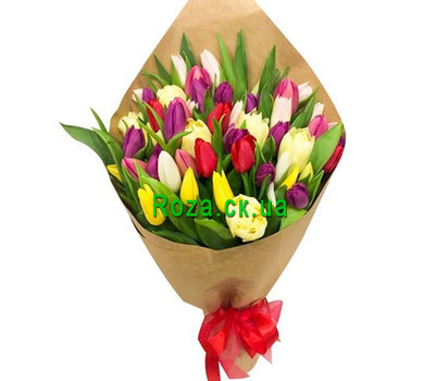 """Bouquet of Tulips in Paper"" in the online flower shop roza.ck.ua"