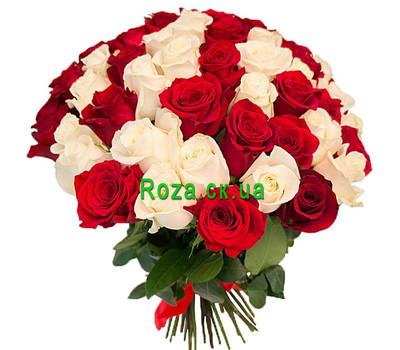 """Wonderful bouquet of 51 roses"" in the online flower shop roza.ck.ua"