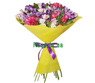 """Bouquet of alstroemerias"" in the online flower shop roza.ck.ua"