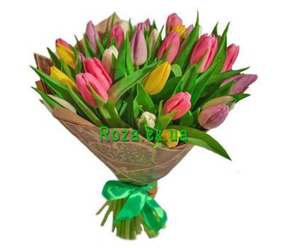 """Wonderful bouquet of tulips"" in the online flower shop roza.ck.ua"