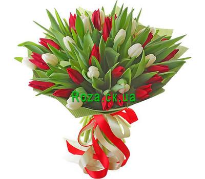 """""""Гармоничный букет тюльпанов"""" в интернет-магазине цветов roza.ck.ua"""