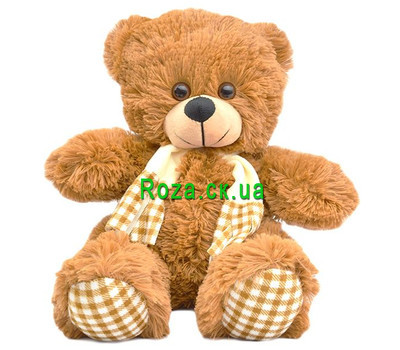 """Brown bear in a scarf"" in the online flower shop roza.ck.ua"