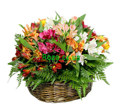 """Basket with alstroemerias"" in the online flower shop roza.ck.ua"