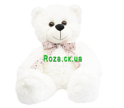 """Beautiful White Bear"" in the online flower shop roza.ck.ua"