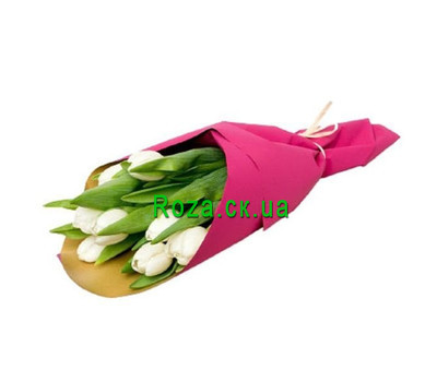 """A small bouquet of tulips"" in the online flower shop roza.ck.ua"