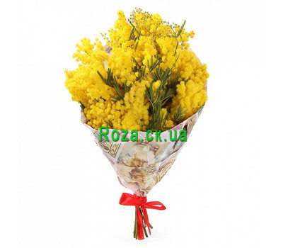 """""""A small bouquet of mimosa"""" in the online flower shop roza.ck.ua"""