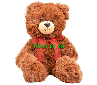 """A small brown bear cub"" in the online flower shop roza.ck.ua"