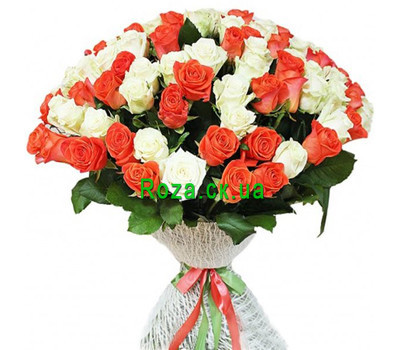 """An unusual bouquet of 101 roses"" in the online flower shop roza.ck.ua"