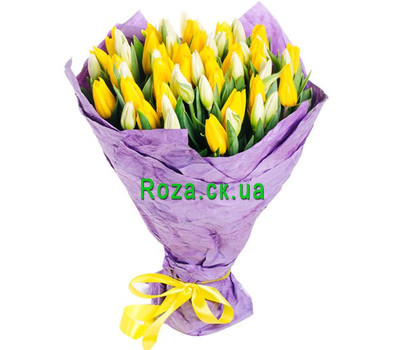 """Non-standard bouquet of tulips"" in the online flower shop roza.ck.ua"