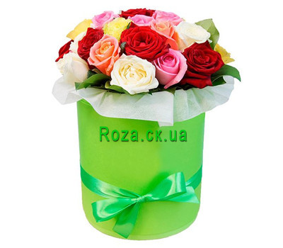 """Charming box with roses"" in the online flower shop roza.ck.ua"