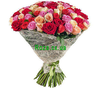 """An excellent bouquet of 101 roses"" in the online flower shop roza.ck.ua"