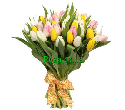 """Spring tulips in a bouquet"" in the online flower shop roza.ck.ua"