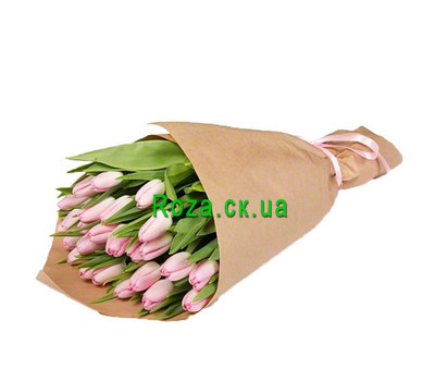 """""""Delightful bouquet of pink tulips"""" in the online flower shop roza.ck.ua"""