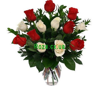 """13 roses in a bouquet"" in the online flower shop roza.ck.ua"