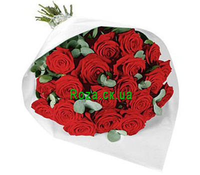 """21 cascade roses"" in the online flower shop roza.ck.ua"