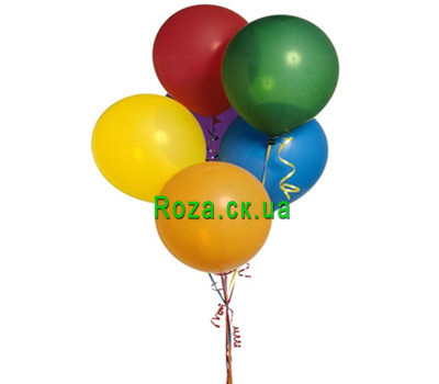 """7 helium balls"" in the online flower shop roza.ck.ua"