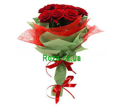 """Authentic bouquet of red roses"" in the online flower shop roza.ck.ua"