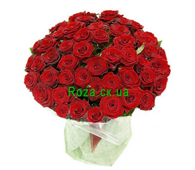 """Large bouquet of roses in Cherkassy"" in the online flower shop roza.ck.ua"