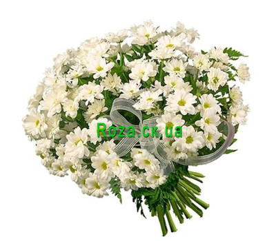 """Bouquet of white chrysanthemums"" in the online flower shop roza.ck.ua"