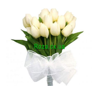 """""""Bouquet of white tulips"""" in the online flower shop roza.ck.ua"""