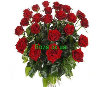 """Bouquet of burgundy roses"" in the online flower shop roza.ck.ua"