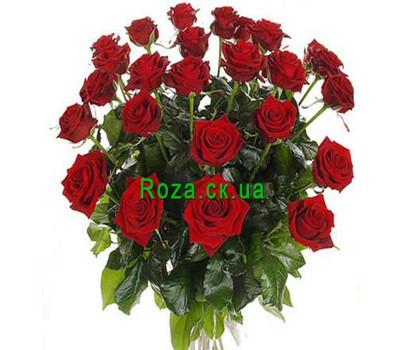 """""""Букет бордових троянд"""" в интернет-магазине цветов roza.ck.ua"""
