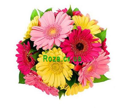 """""""Букет квітів із гербер"""" в интернет-магазине цветов roza.ck.ua"""