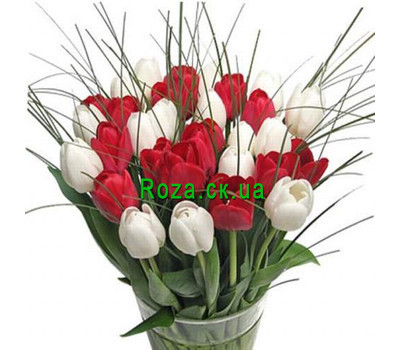 """Bouquet of flowers from tulips"" in the online flower shop roza.ck.ua"