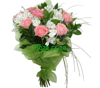 """Bouquet for romantic natures"" in the online flower shop roza.ck.ua"