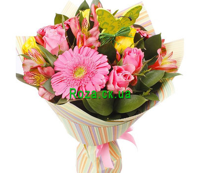 """Bouquet of alstroemerias and gerberas"" in the online flower shop roza.ck.ua"