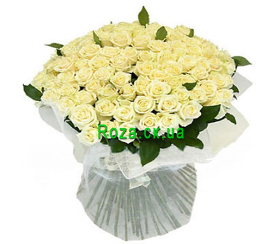 """Bouquet of white roses in Cherkassy"" in the online flower shop roza.ck.ua"