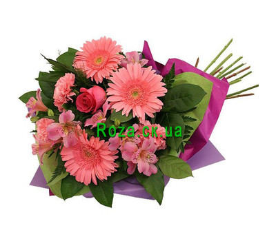 """Bouquet of gerberas and alstroemerias"" in the online flower shop roza.ck.ua"