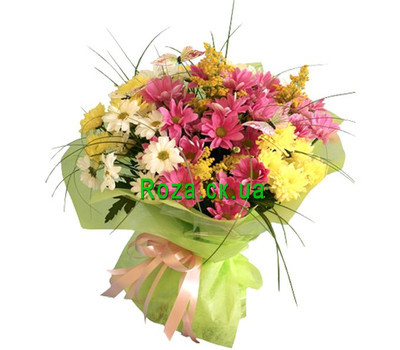 """Bouquet of chrysanthemums"" in the online flower shop roza.ck.ua"