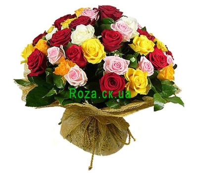 """Bouquet for 55 years"" in the online flower shop roza.ck.ua"