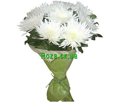 """""""Bouquet of single chrysanthemums"""" in the online flower shop roza.ck.ua"""