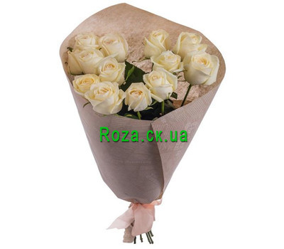 """Bouquet of peach roses"" in the online flower shop roza.ck.ua"