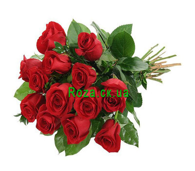 """Bouquet of roses with ribbon"" in the online flower shop roza.ck.ua"
