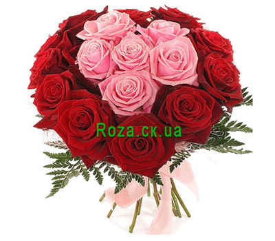 """Bouquet heart from roses"" in the online flower shop roza.ck.ua"