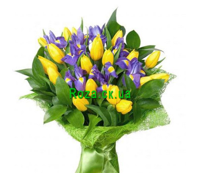 """Bouquet of spring flowers"" in the online flower shop roza.ck.ua"