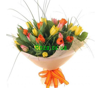 """Bouquet of tulips in Cherkassy"" in the online flower shop roza.ck.ua"