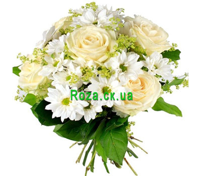 """Bouquet in white tones"" in the online flower shop roza.ck.ua"