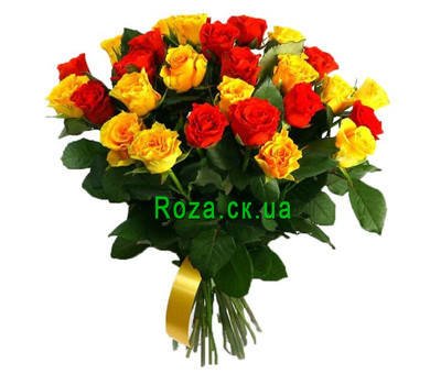 """Bouquet of bright roses"" in the online flower shop roza.ck.ua"